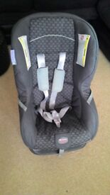 Britax car seat in grey. Forward or rear facing for child up to 18 kg