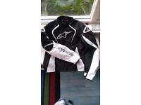 motorbike jacket alpine stars textile