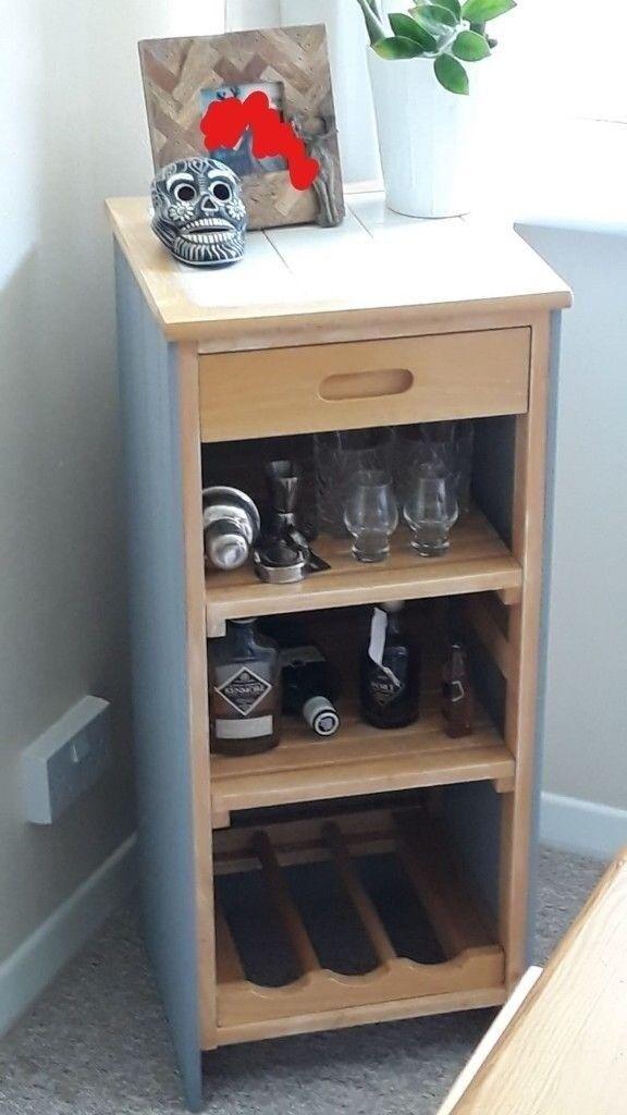 Mini Bar Wine Rack Drinks Table