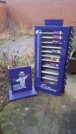 Cadburys chocolate bar vending machine.