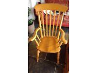 Large Farmhouse Pine Chair