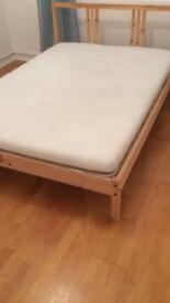 Bed and mattress (double)