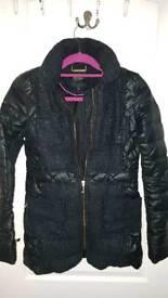 Juicy couture black glitter coat size 6