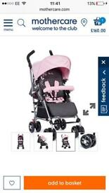 Girls silver cross stroller