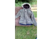 Boys age 12/13 yrs kakhi/brown winter coat