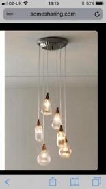 Next glass cluster light