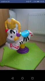 Bouncy zebra toy