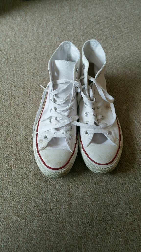 07b7773d8307 White converse all star adult size 8
