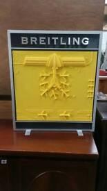 Used Large aluminum Breitling sign
