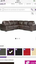 DFS corner sofa. Good condition. Real leather.