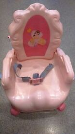 Child's booster chair for dining. Straps to existing dining chair