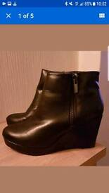 womens river island wedge boot Size 6