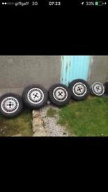 "Vw Scirocco Storm 13"" Alloy Wheels 4x100 Mk1 Mk2 Golf Polo"