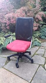 Padded swivel office chair