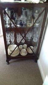 Mahogony Glass Display Cabinet