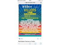 2 4 day Benicassim tickets with glamping