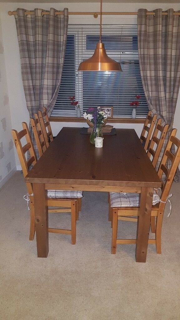 6 Seater Wooden Dining Table And Chairs In Dollar