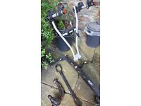 Thule 2 bike carrier, frame adapter, Westfalia tow bar and fitments suitable Fiat 500