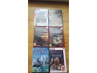 Sim city 3000, age of mythology, medieval total war 2 kingdoms expansion. Anno 2070.