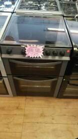 LOGIK 60CM ELECTRIC DOUBLE OVEN COOKER IN SILVER