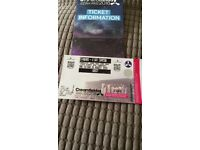 2 x four day standard camping tickets for Creamfields £175 each