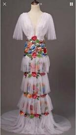 Embroidered marchsea style dress gown size 8
