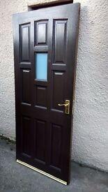 Oak door 9 panel.