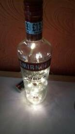 Smirnoff vodka bottle light