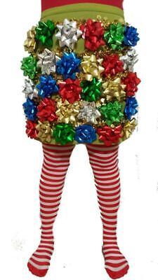 Ugly Christmas Sweater - Bow Dress of Christmas Bows Sz 14 Christmas Bow Skirt ()