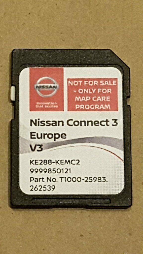 GENUINE NISSAN SAT NAV SD CARD - UK EUROPE V3 2018 CONNECT 3 T1000-25983 |  in Corstorphine, Edinburgh | Gumtree