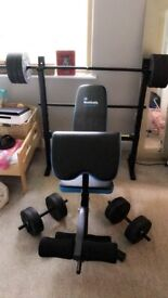 Men's Health Bench and Weights 50KG