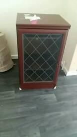 Storage cabinet glass door