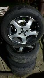 FOUR VW POLO ALLOY WHEELS£25 ovno