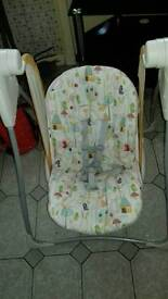 Baby play gym,viberating swing and high chair
