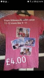 Cat top from Littlewoods worn once 9-11 years