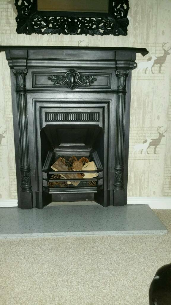 Original Victorian Cast Iron Fire Surround with Marble Hearthin Hull, East YorkshireGumtree - Original Surround in very good condition with grate. Fire surround is 40 inches high with mantlepiece. 36 inches wide when measuring across mantlepiece. 30 inches measured across the middle.The hearth measures 42 inches long. 15 inches wide and one...