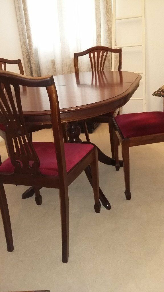 Stag Minstrel Extending Dining Table + 6 Custom Made Chairs
