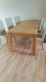 Urgent.Table with 6 chairs