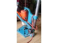 Black & Decker vertical pillar drill stand & 2 speed percussion drill 330W +vice