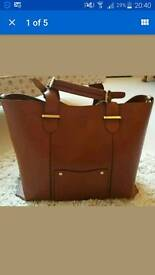 Monsoon Leather Tote Bag