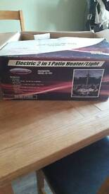 Electric 2 in 1 patio heater like new