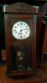 Fontenoy sonora oak cased wall clock