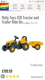Kids jvc tractor with trailor