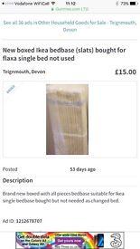 Ikea single European replacement bed slats