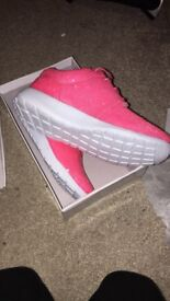 Ladies pink sequin trainers brand new