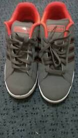 Adidas male grey shoes