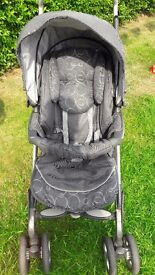 Silver cross pushchair with linings for pram and car seat