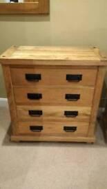 Mango wood chest of drawers
