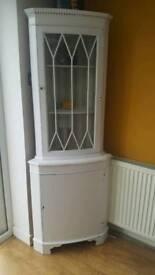 corner cabinet unit shabby distressed vintage