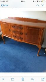 solid yew wood sideboard